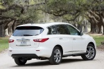 2013 Infiniti JX35 in Moonlight White - Static Rear Right View