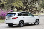 2013 Infiniti JX35 in Moonlight White - Static Rear Right Three-quarter View