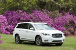2013 Infiniti JX35 in Moonlight White - Static Front Right Three-quarter View