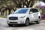 2013 Infiniti JX35 in Moonlight White - Static Front Left View