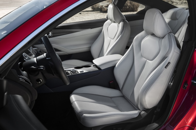2018 Infiniti Q60 Coupe 3.0T RED SPORT 400 Front Seats Picture