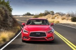 2018 Infiniti Q60 Coupe 3.0T RED SPORT 400 in Dynamic Sunstone Red - Driving Frontal View