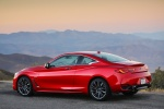 2018 Infiniti Q60 Coupe 3.0T RED SPORT 400 AWD in Dynamic Sunstone Red - Static Rear Left Three-quarter View