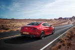 2018 Infiniti Q60 Coupe 3.0T RED SPORT 400 in Dynamic Sunstone Red - Driving Rear Right Three-quarter View