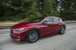 2018 Infiniti QX30S in Magnetic Red - Driving Front Left Three-quarter View