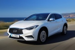 2018 Infiniti QX30 in Majestic White - Driving Front Left View