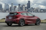 2019 Infiniti QX30S in Magnetic Red - Static Rear Right View