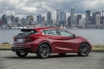 2019 Infiniti QX30S in Magnetic Red - Static Rear Right Three-quarter View