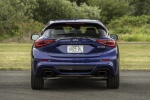 Picture of a 2019 Infiniti QX30S in Ink Blue from a rear perspective