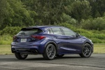 Picture of a 2019 Infiniti QX30S in Ink Blue from a rear right perspective