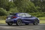 Picture of a 2019 Infiniti QX30S in Ink Blue from a rear right three-quarter perspective