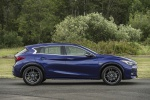 Picture of a 2019 Infiniti QX30S in Ink Blue from a side perspective