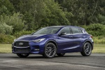 Picture of a 2019 Infiniti QX30S in Ink Blue from a front left perspective