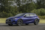 Picture of a 2019 Infiniti QX30S in Ink Blue from a front left three-quarter perspective