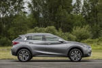 Picture of a 2019 Infiniti QX30 AWD in Graphite Shadow from a side perspective