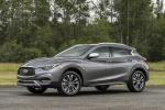 Picture of a 2019 Infiniti QX30 AWD in Graphite Shadow from a front left three-quarter perspective