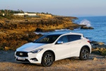 Picture of a 2019 Infiniti QX30 in Majestic White from a front left three-quarter perspective