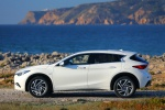 Picture of a 2019 Infiniti QX30 in Majestic White from a side perspective