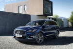 2018 Infiniti QX60 in Hermosa Blue - Static Front Left Three-quarter View