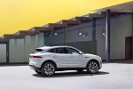 Picture of a 2020 Jaguar E-Pace P250 AWD in Fuji White from a right side perspective