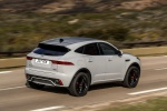 2020 Jaguar E-Pace P300 R-Dynamic AWD in Fuji White - Driving Rear Right Three-quarter View