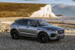Picture of a 2020 Jaguar E-Pace P300 R-Dynamic AWD in Corris Gray from a front right three-quarter perspective