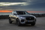Picture of a 2020 Jaguar E-Pace P300 R-Dynamic AWD in Corris Gray from a front right perspective