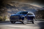 Picture of a 2014 Jeep Cherokee Limited 4WD in True Blue Pearlcoat from a front left three-quarter perspective