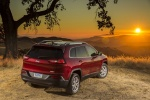 2015 Jeep Cherokee Latitude in Deep Cherry Red Crystal Pearlcoat - Static Rear Right View