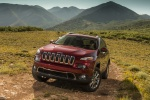 Picture of a 2015 Jeep Cherokee Limited 4WD in Deep Cherry Red Crystal Pearlcoat from a front left perspective