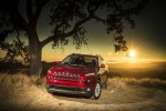 Picture of a 2016 Jeep Cherokee Latitude in Deep Cherry Red Crystal Pearlcoat from a front left perspective