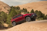 Picture of a 2016 Jeep Cherokee Trailhawk 4WD in Deep Cherry Red Crystal Pearlcoat from a front right three-quarter perspective