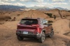 2017 Jeep Cherokee Trailhawk 4WD in Deep Cherry Red Crystal Pearlcoat from a rear view
