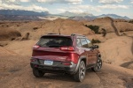 2017 Jeep Cherokee Trailhawk 4WD in Deep Cherry Red Crystal Pearlcoat - Static Rear View