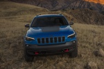 Picture of a 2019 Jeep Cherokee Trailhawk 4WD in Hydro Blue Pearlcoat from a frontal perspective