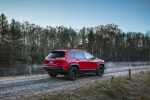 Picture of a 2019 Jeep Cherokee Trailhawk 4WD in Firecracker Red Clearcoat from a rear right three-quarter perspective