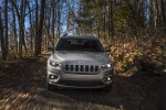 Picture of a driving 2019 Jeep Cherokee Limited 4WD in Billet Silver Metallic Clearcoat from a frontal perspective