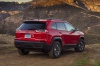 Picture of a 2020 Jeep Cherokee Trailhawk 4WD from a rear right three-quarter perspective