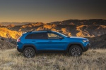 Picture of a 2020 Jeep Cherokee Trailhawk 4WD in Hydro Blue Pearlcoat from a right side perspective