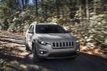 Picture of a driving 2020 Jeep Cherokee Limited 4WD in Billet Silver Metallic Clearcoat from a front right perspective