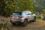 Picture of a 2019 Jeep Compass Limited 4WD in Billet Silver Metallic Clearcoat from a rear right three-quarter perspective