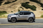 Picture of a 2019 Jeep Compass Limited 4WD in Billet Silver Metallic Clearcoat from a side perspective