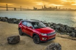 Picture of a 2019 Jeep Compass Limited 4WD in Redline Pearlcoat from a front right perspective