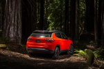 Picture of a 2019 Jeep Compass Trailhawk 4WD in Spitfire Orange Clearcoat from a rear right perspective
