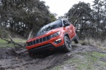 Picture of a 2019 Jeep Compass Trailhawk 4WD in Spitfire Orange Clearcoat from a front left perspective