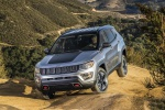 Picture of a 2019 Jeep Compass Trailhawk 4WD in Billet Silver Metallic Clearcoat from a front left perspective