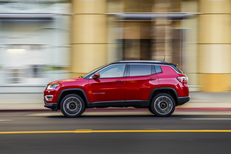 2020 Jeep Compass Limited 4WD in Redline Pearlcoat from a side view