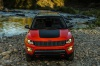 2020 Jeep Compass Trailhawk 4WD in Spitfire Orange Clearcoat from a frontal view
