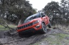 2020 Jeep Compass Trailhawk 4WD in Spitfire Orange Clearcoat from a front left view