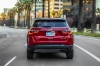 2020 Jeep Compass Limited 4WD in Redline Pearlcoat from a rear view